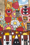 MOSCOU, RÚSSIA: Parede dos grafittis Fotos de Stock Royalty Free
