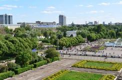MOSCOU, RÚSSIA - 26 06 2015 Parque de Gorky - central Imagens de Stock