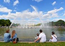 MOSCOU, RÚSSIA - 26 06 2015 Parque de Gorky - central Fotografia de Stock Royalty Free