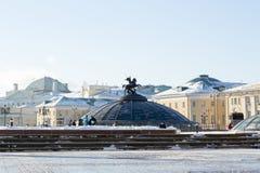 MOSCOU, RÚSSIA: Quadradode Manege ` do pulso de disparo do mundo do ` da fonte Fotos de Stock