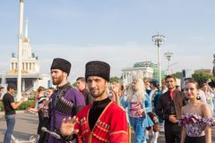 Moscou, R?ssia: Festival ?feriados do bailado do mundo ? fotos de stock