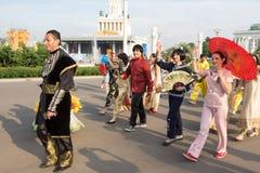 Moscou, R?ssia: Festival ?feriados do bailado do mundo ? imagens de stock