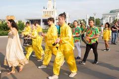 Moscou, R?ssia: Festival ?feriados do bailado do mundo ? imagem de stock royalty free