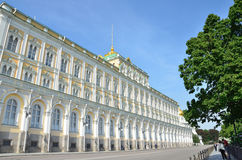 Moscou, Rússia, palácio presidencial em kremlin Fotografia de Stock Royalty Free