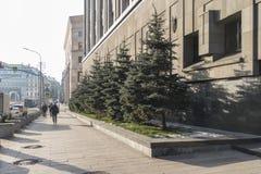 moscou Rue de Bolshaya Lubyanka photos stock