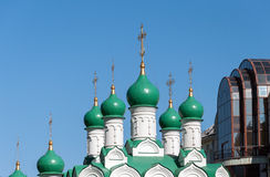 Moscou, Russie Église Simeon sur le cuisinier construit en 1676 Photos stock