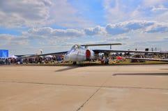 MOSCOU, RUSSIE - AOÛT 2015 : aéronefs expérimentaux géophysiques M-55 mes Photographie stock