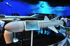 MOSCOU, RUSSIE - AOÛT 2015 : missile antinavire subsonique Kh-35U AS Photos libres de droits