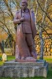 MOSCOU, RUSSIE AVRIL, 24, 2018 : Fermez-vous de la sculpture en bronze de Joseph Vissarionovich Stalin, en parc tombé de monument Images stock