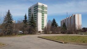 Moscou, Russie 24 avril 2018 vue générale de troisième microdistrict dans Zelenograd banque de vidéos