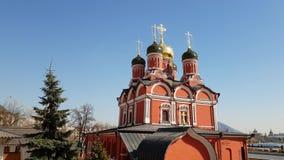 Moscou, Russie Cathédrale de l'icône de la mère de Dieu le signe de l'ancien monastère de Znamensky sur Varvarka clips vidéos