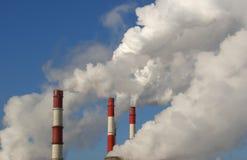 Moscou, Russie, centrale électrique fonctionnante Photographie stock