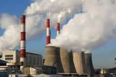 Moscou, Russie, centrale électrique fonctionnante Photo libre de droits