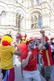 Moscou, Russie : Coupe du monde 2018, passionés du football Images stock