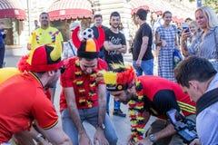 Moscou, Russie : Coupe du monde 2018, passionés du football Photographie stock libre de droits