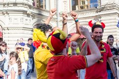Moscou, Russie : Coupe du monde 2018, passionés du football Photographie stock