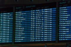 MOSCOU, RUSSIE - 25 DÉCEMBRE 2016 : Le programme des vols DIS Photographie stock