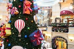 MOSCOU, RUSSIE - 3 DÉCEMBRE 2017 : ` S de nouvelle année et décoration de Noël de la GOMME à Moscou, Russie Photo libre de droits