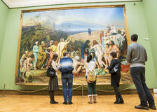 MOSCOU, RUSSIE 1ER MARS : L'état Tretyakov Art Gallery dans Mosco Photographie stock libre de droits