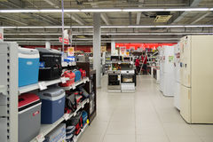 Moscou, Russie - 2 février 2016 L'intérieur d'Eldorado est de grands magasins à succursales multiples vendant l'électronique Images libres de droits