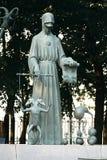 Moscou, Russie - 24 juillet 2008 : Les enfants sont les victimes des vices adultes est un groupe de sculptures en bronze créées p photo stock