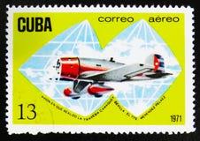 MOSCOU, RUSSIE - 15 JUILLET 2017 : Timbre rare imprimé dans des expositions du Cuba Photo libre de droits