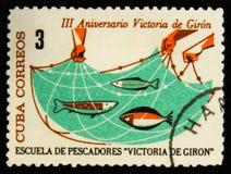 MOSCOU, RUSSIE - 15 JUILLET 2017 : Timbre rare imprimé dans des expositions du Cuba Images libres de droits