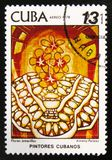 MOSCOU, RUSSIE - 15 JUILLET 2017 : Un timbre imprimé au Cuba montre a Photo libre de droits