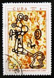 MOSCOU, RUSSIE - 15 JUILLET 2017 : Un timbre imprimé au Cuba montre des RP Images libres de droits