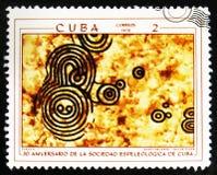 MOSCOU, RUSSIE - 15 JUILLET 2017 : Un timbre imprimé au Cuba montre des RP Image stock