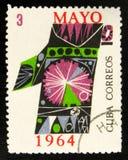 MOSCOU, RUSSIE - 15 JUILLET 2017 : Un timbre imprimé au Cuba montre la Co Photographie stock