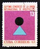MOSCOU, RUSSIE - 15 JUILLET 2017 : Un timbre imprimé au Cuba montre la fin de support Photo stock