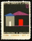 MOSCOU, RUSSIE - 15 JUILLET 2017 : Un timbre imprimé au Cuba montre la fin de support Images stock