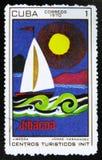 MOSCOU, RUSSIE - 15 JUILLET 2017 : Un timbre imprimé au Cuba montre la PA Photographie stock libre de droits