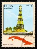 MOSCOU, RUSSIE - 15 JUILLET 2017 : Un timbre imprimé au Cuba montre le Ca Image stock