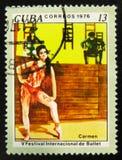 MOSCOU, RUSSIE - 15 JUILLET 2017 : Un timbre imprimé au Cuba montre le De Images libres de droits