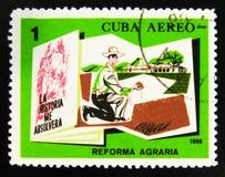 MOSCOU, RUSSIE - 15 JUILLET 2017 : Un timbre imprimé au Cuba montre le mA Photo stock