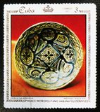 MOSCOU, RUSSIE - 15 JUILLET 2017 : Un timbre imprimé au Cuba montre le Pl Images stock