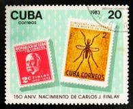 MOSCOU, RUSSIE - 15 JUILLET 2017 : Un timbre imprimé au Cuba montre le St Photo libre de droits