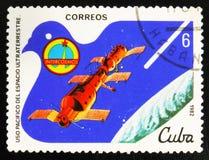 MOSCOU, RUSSIE - 15 JUILLET 2017 : Un timbre imprimé au Cuba montre SA Photographie stock libre de droits