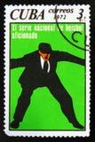 MOSCOU, RUSSIE - 15 JUILLET 2017 : Un timbre imprimé au Cuba montre au sujet de Image stock