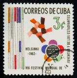 MOSCOU, RUSSIE - 15 JUILLET 2017 : Un timbre imprimé dans le showsVII du Cuba Photographie stock