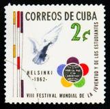 MOSCOU, RUSSIE - 15 JUILLET 2017 : Un timbre imprimé dans le showsVII du Cuba Photos stock