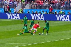Moscou, Russie - 14 juin 2018 : Match d'ouverture sur le St de Luzhniki Image libre de droits
