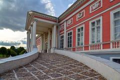 Moscou, Russie - 6 juin 2016 Palais de compte Sheremetev dans le domaine Kuskovo entrée image libre de droits