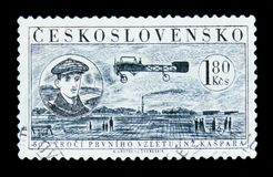 MOSCOU, RUSSIE - 20 JUIN 2017 : Un timbre imprimé dans Czechoslovaki Photo libre de droits