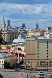 Moscou, Russie - 8 juin 2016 Vue du centre ville sur le dessus Photographie stock
