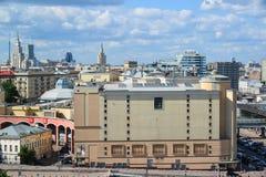 Moscou, Russie - 8 juin 2016 Vue du centre ville sur le dessus Images libres de droits