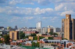 Moscou, Russie - 8 juin 2016 Vue du centre ville sur le dessus Image libre de droits