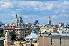 Moscou, Russie - 8 juin 2016 Vue du centre ville sur le dessus Images stock
